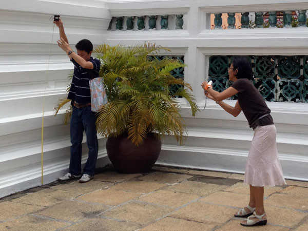 @the grand palace, just measuring up for a new sofa or something