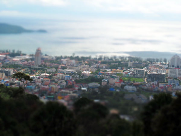 Patong from the hills