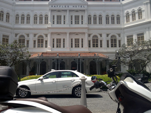Raffles hotel - all out of free Singapore Slings