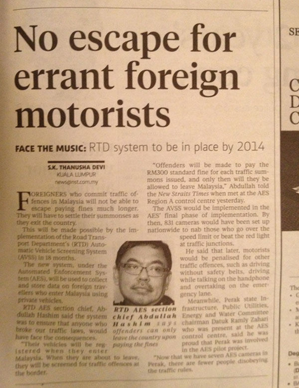 road rules optional for foreigners