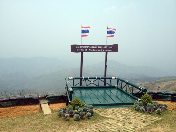 Thai/Myanmar border up in the hills